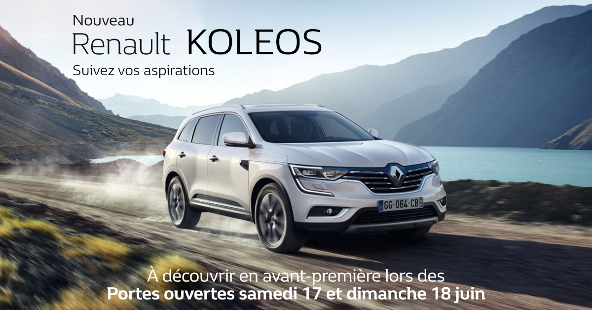 nouveau renault captur nouveau renault koleos portes ouvertes groupe bader juin 2017. Black Bedroom Furniture Sets. Home Design Ideas